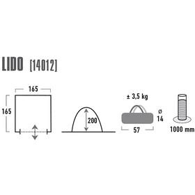 High Peak Lido Tienda multifunción, light grey/dark grey/blue